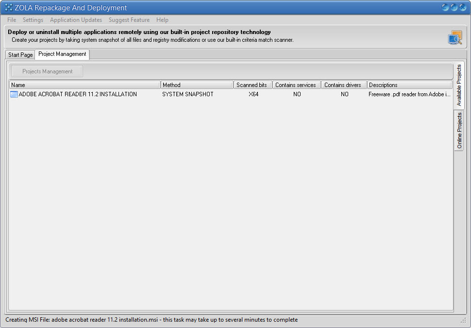 MSI Authoring tool, convert setup to msi package