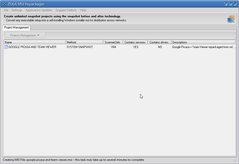 Convert EXE to MSI - Repackage Google Picasa - Team Viewer