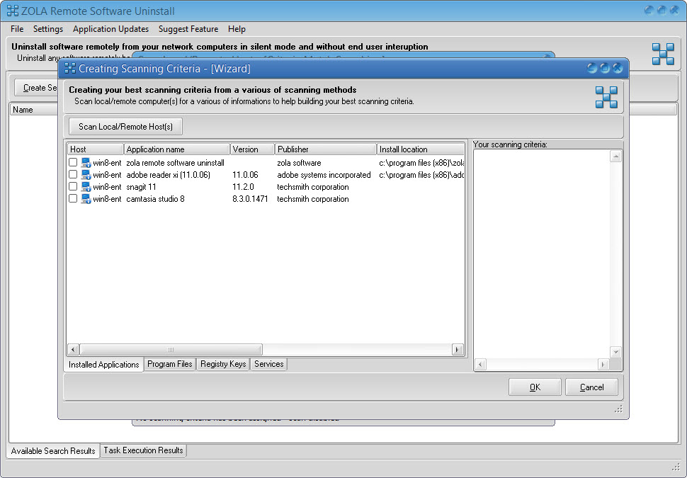 Network software removal tool - uninstall software remotely