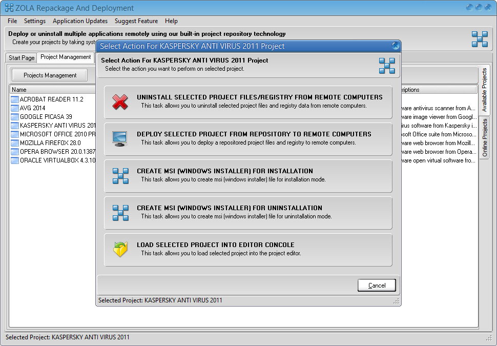 Uninstall Software Remotely - Convert EXE to MSI